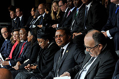 Dignitaries from all over the world at the funeral