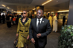 President Joseph Kabila of the DRC and his wife