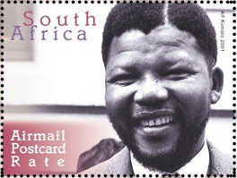 Mandela stamp - South African Post Office